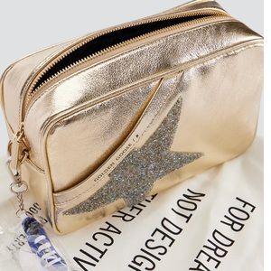 NEW Golden Goose Gold Star Bag w Crystals